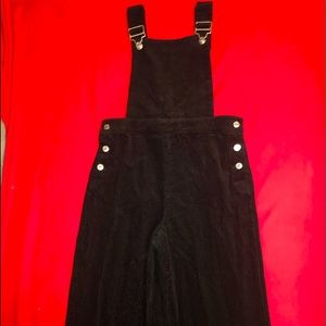 Forever 21 Wide-Leg Corduroy Overalls